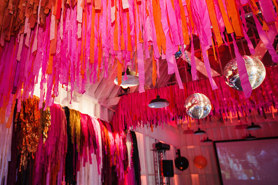 Fringe party decor