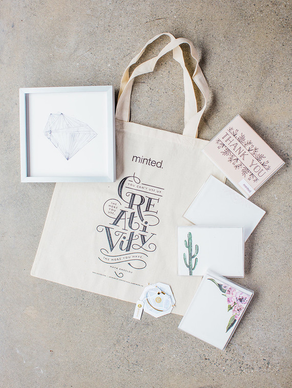 Minted wedding favor bag