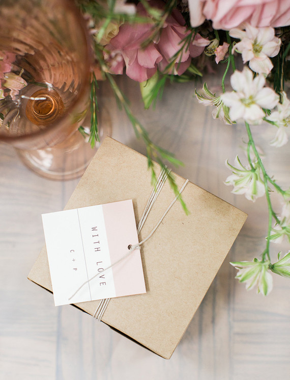 Minted wedding avor