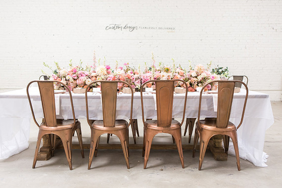 Copper and pink wedding ideas