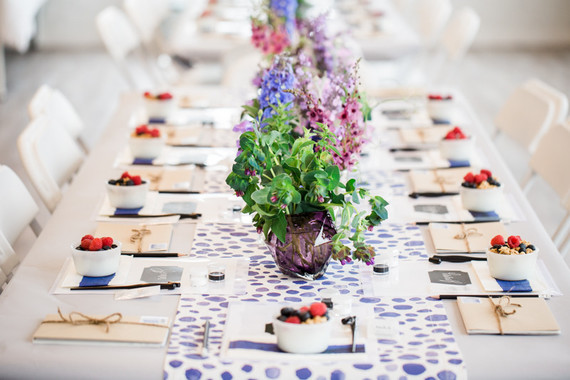 Spring brunch tablescape
