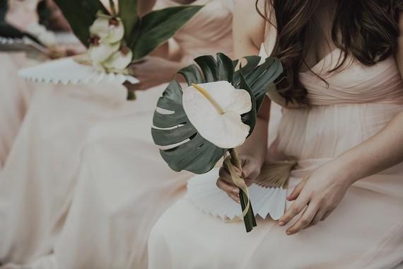 Tropical bridesmaid bouquet