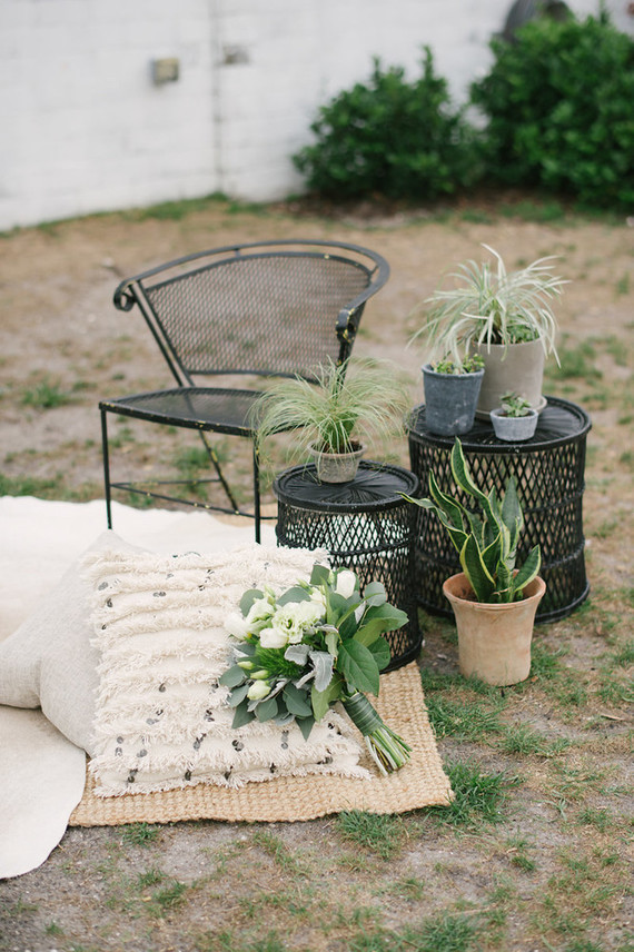 Outdoor wedding lounge