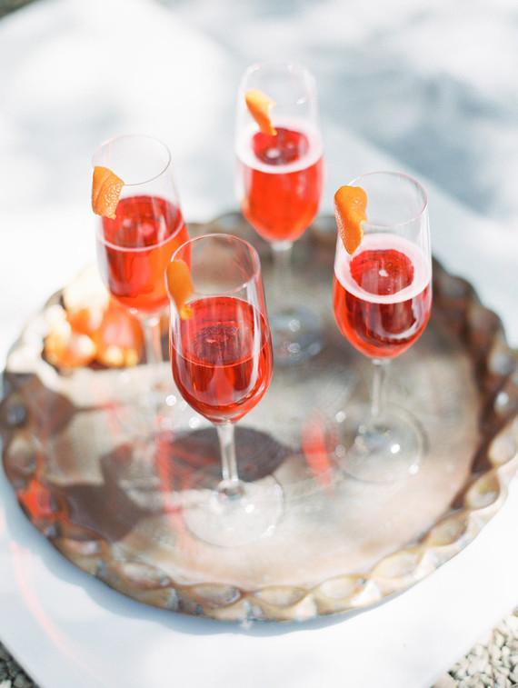 Champange cocktails