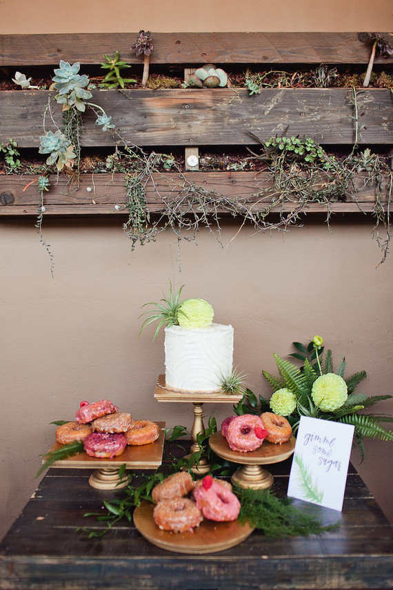 Rustic modern baby shower