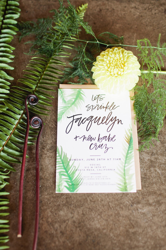 Rustic modern baby shower invites