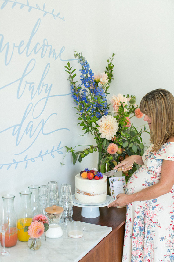 summer backyard baby shower