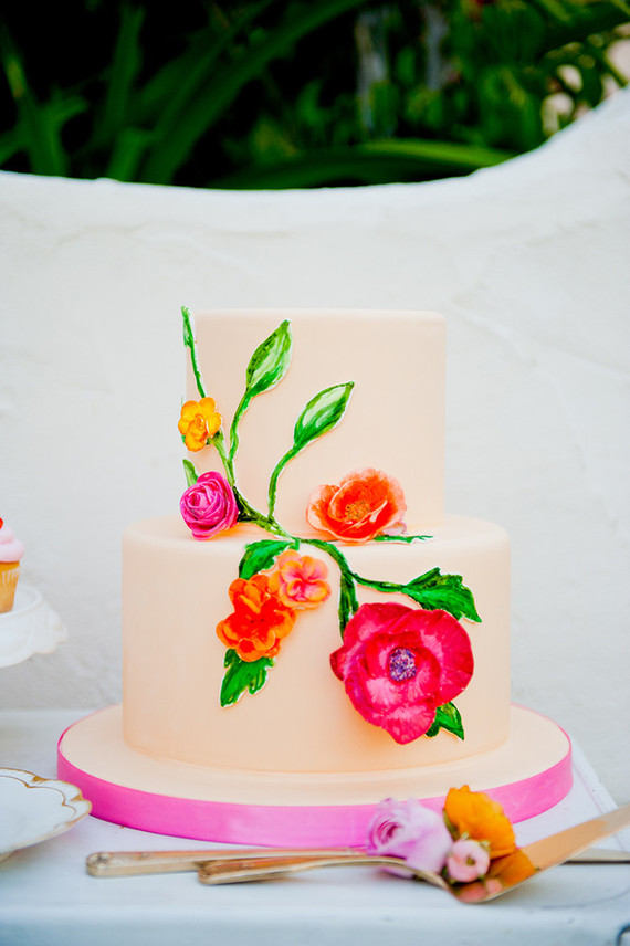 Colorful wedding cake