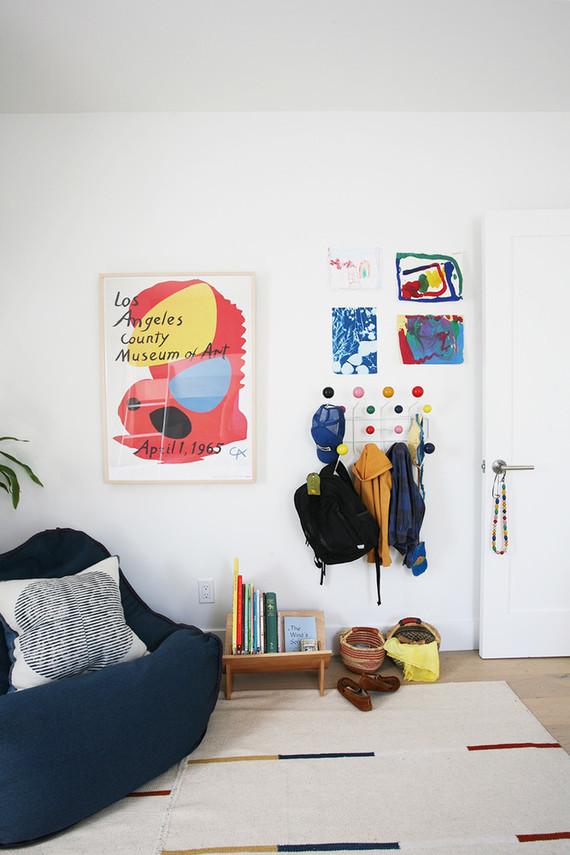 Modern natural shared boys room