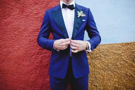 Blue grooms tux