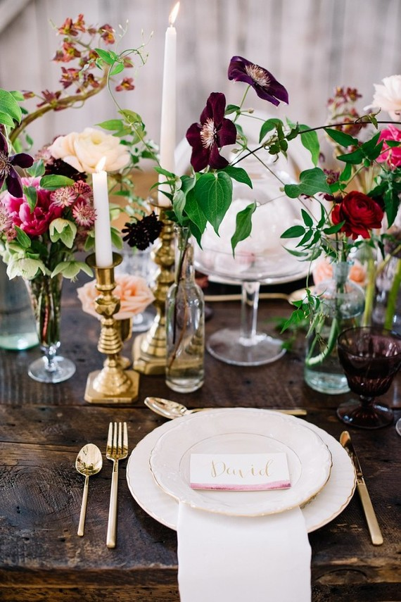 Romantic summer tablescape inspiration