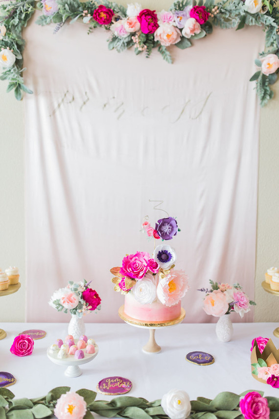floral princess party