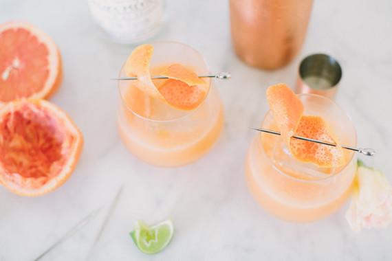 Paloma cocktail with Mezcal and fresh grapefruit juice