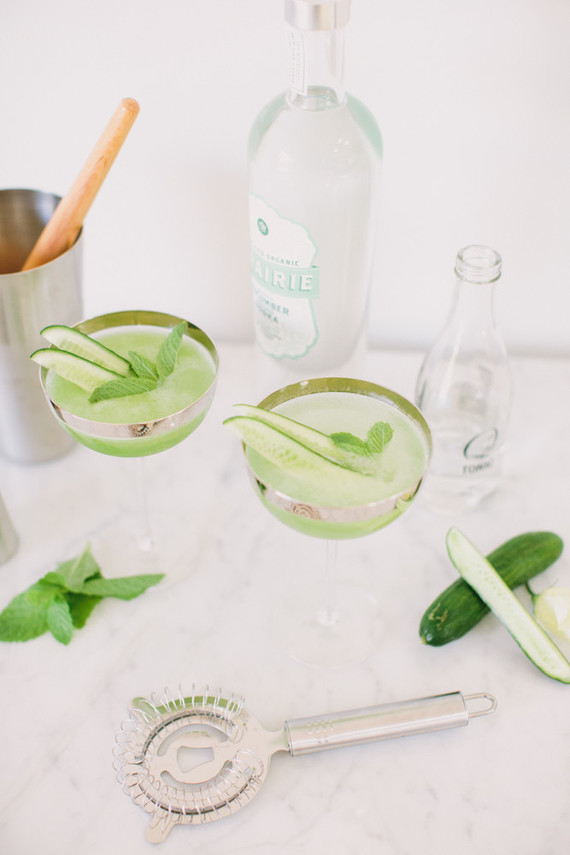 Cucumber cocktail for summer