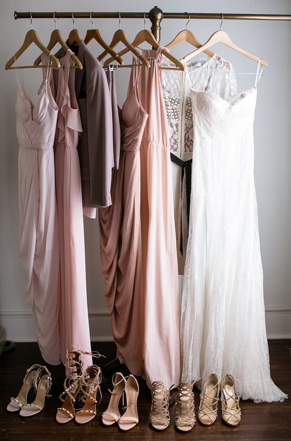 mixed blush bridesmaid dresses