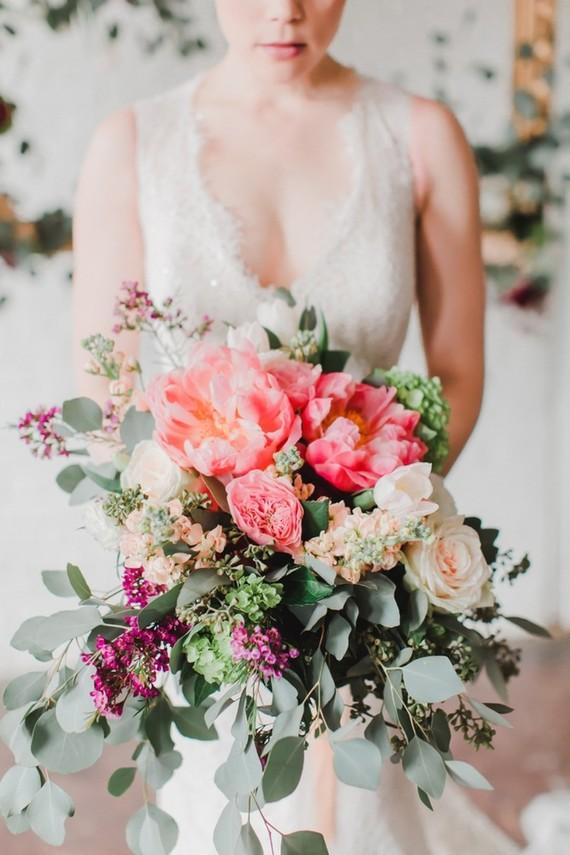 Wedding Flowers By Type : Peony wedding inspiration spring layer cake