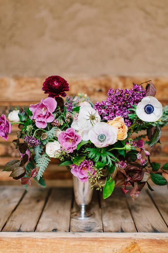 lilac fall wedding flowers