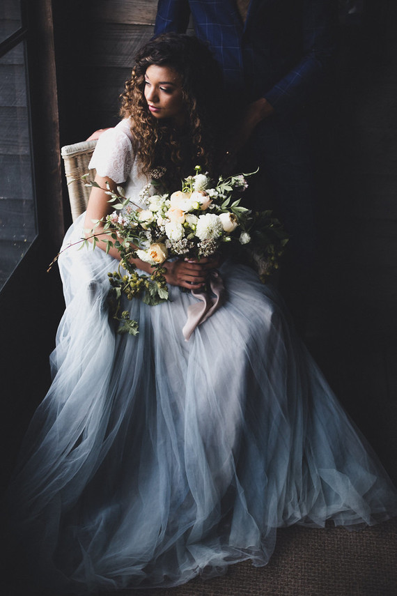moody bridal portraits