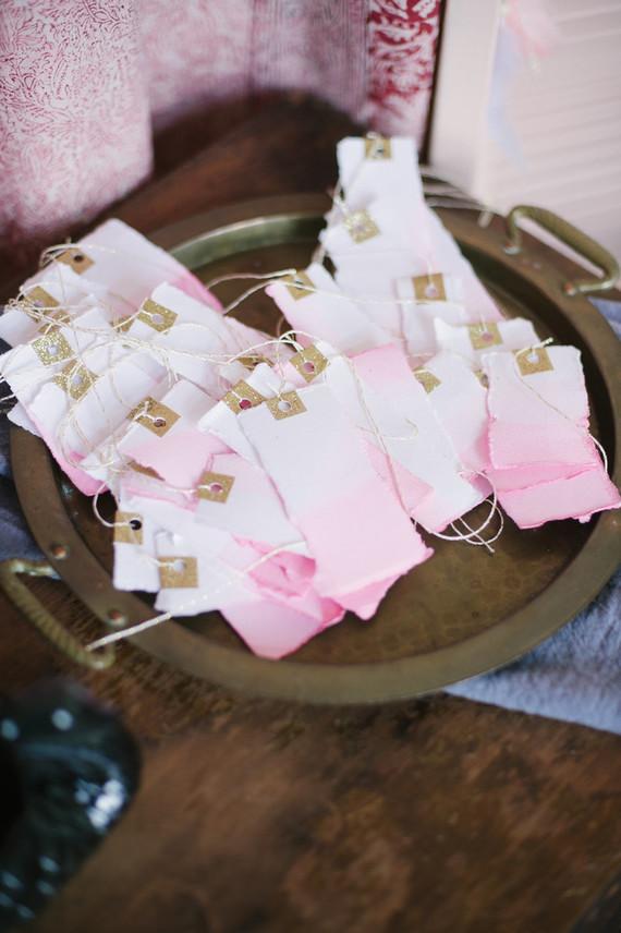pink dip dyed tags