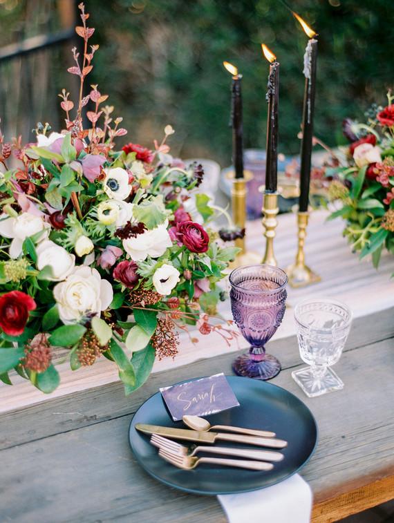 elegant fall wedding table