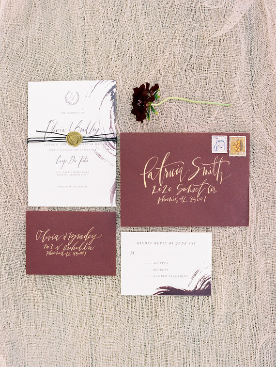 elegant fall wedding invitations