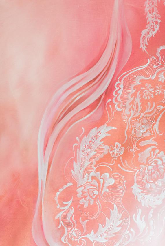 blush lace backdrop