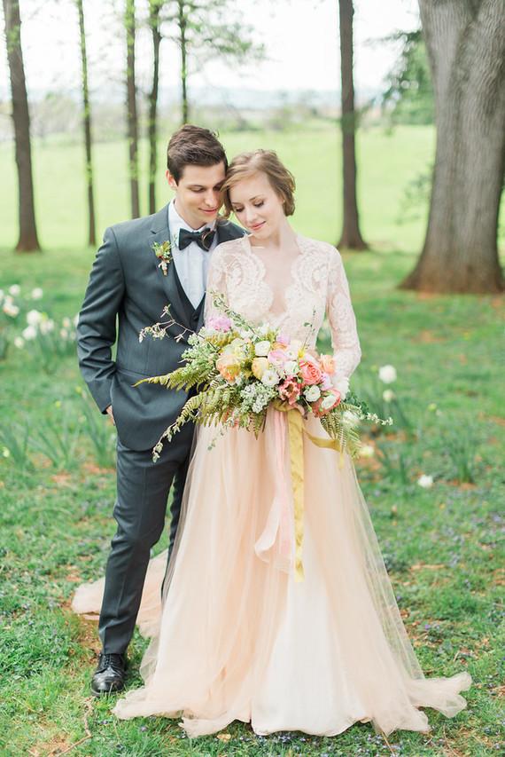 Elegant vintage blush wedding | Blush wedding ideas | 100 Layer Cake