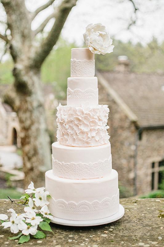 five layer wedding cake