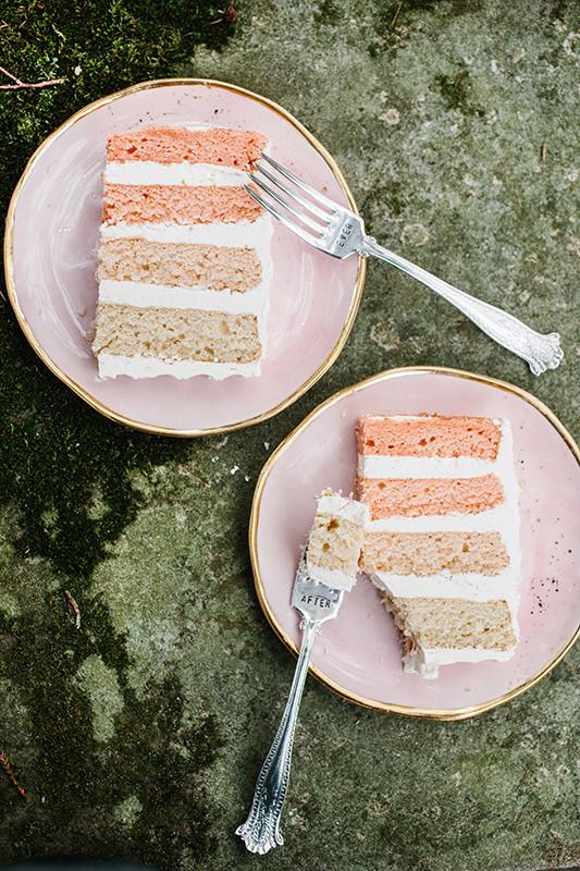 blush layer cake