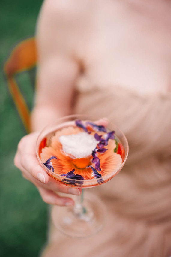 floral summer cocktail