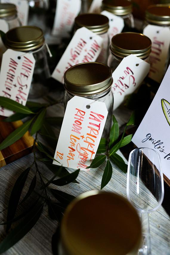 Seasonal foodie wedding favors