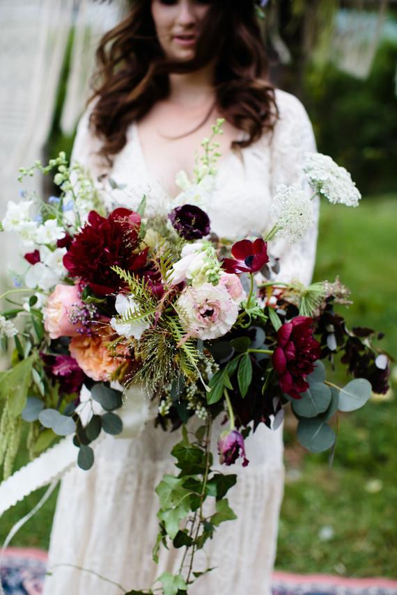 boho fall bride