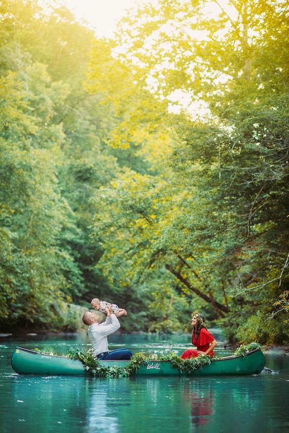 Canoe fall family photos