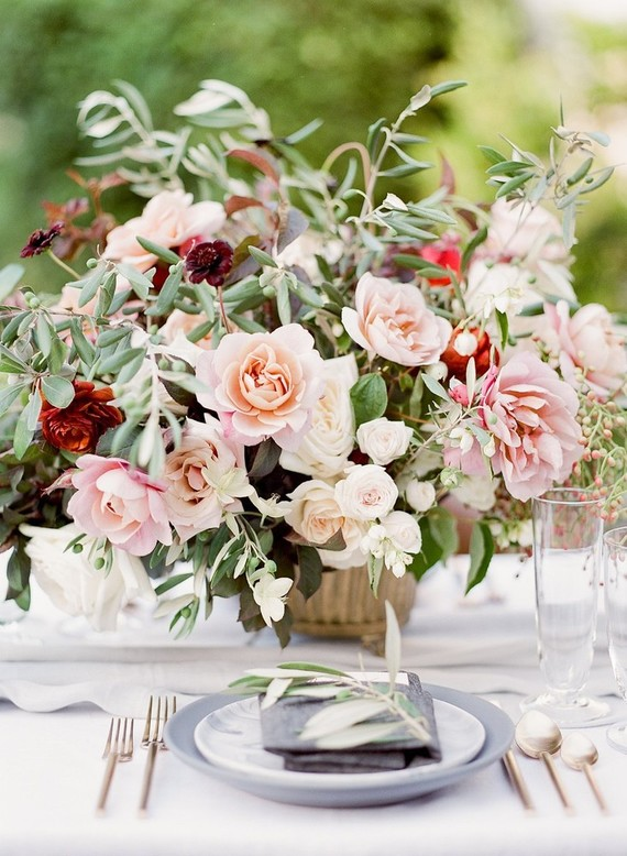 Pink dahlia florals