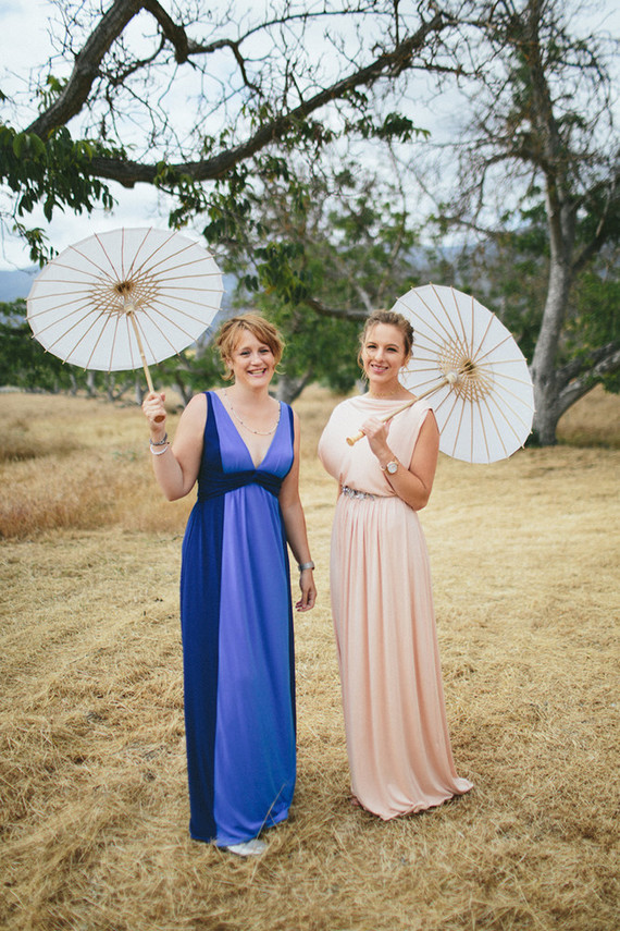 Paper wedding umbrellas