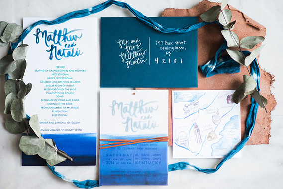 Indigo wedding invitations