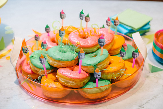 Neon donuts