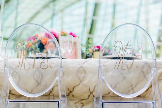Mr & Mrs wedding signage