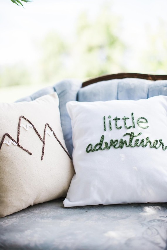 Mountain adventure baby shower
