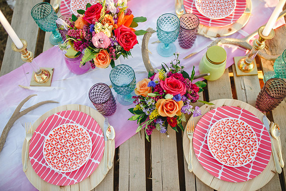 Mexican inspired wedding decor