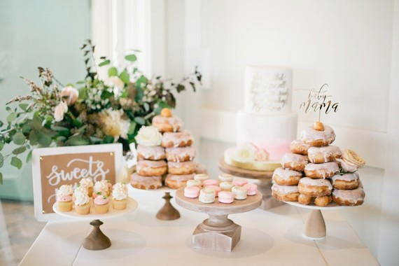 Pink and gold baby shower on 100 Layer Cakelet