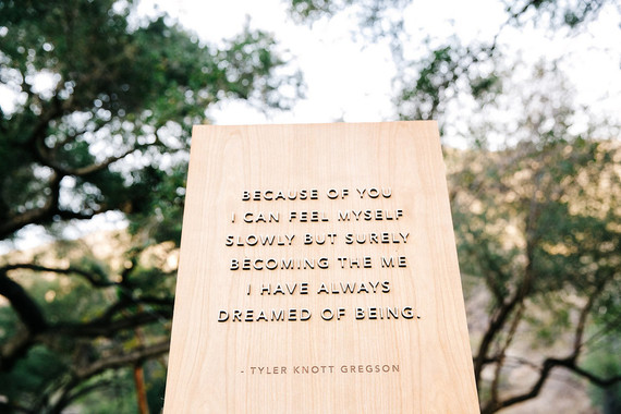 Tyler Knott wedding quote
