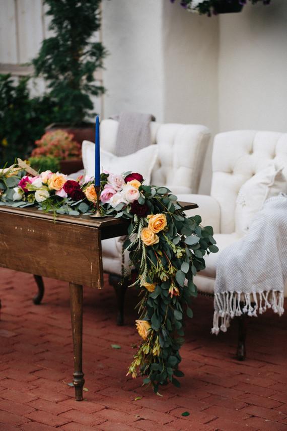 California chic garden wedding