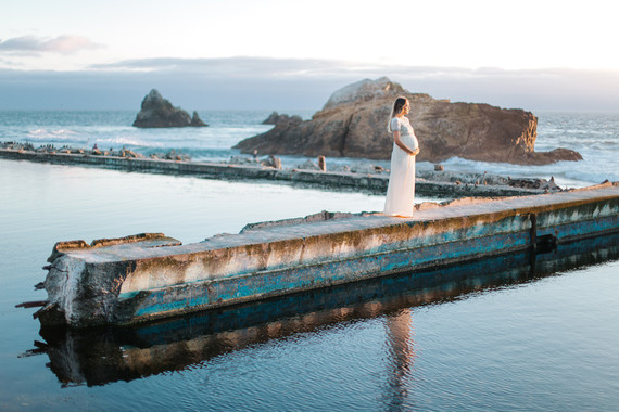 Sutro Baths maternity photos
