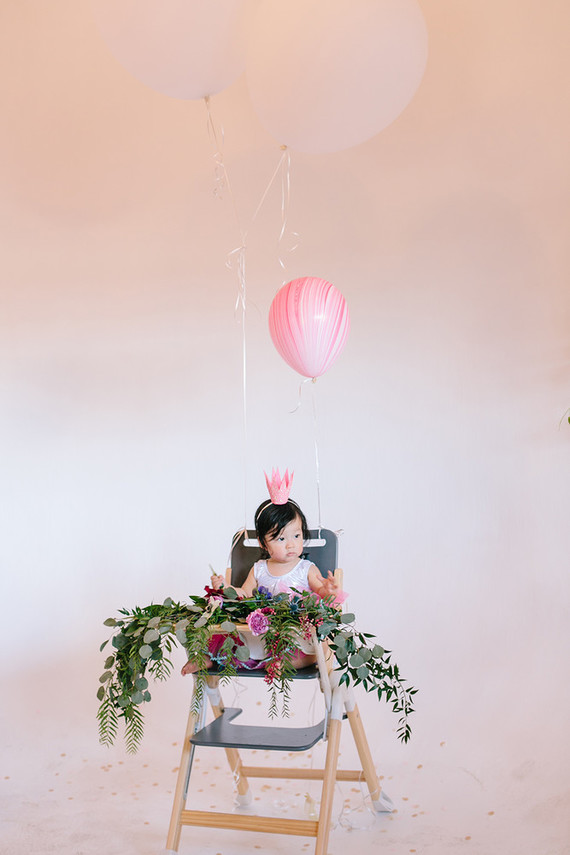 Gem inspired pink 1st birthday