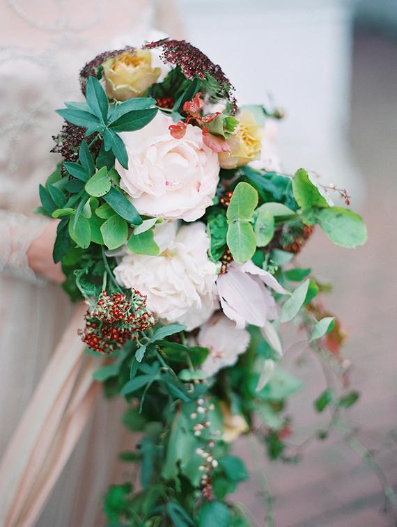 Scarlet and blush bridal inspiration