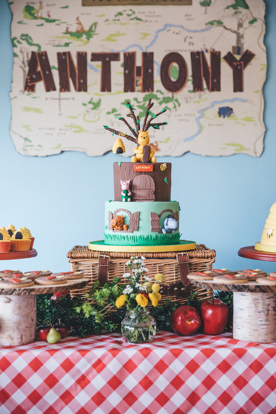 Winnie The Pooh First Birthday First Birthday Party 100 Layer Cakelet