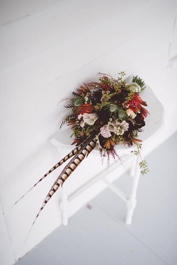 Bohemian bridal bouquet