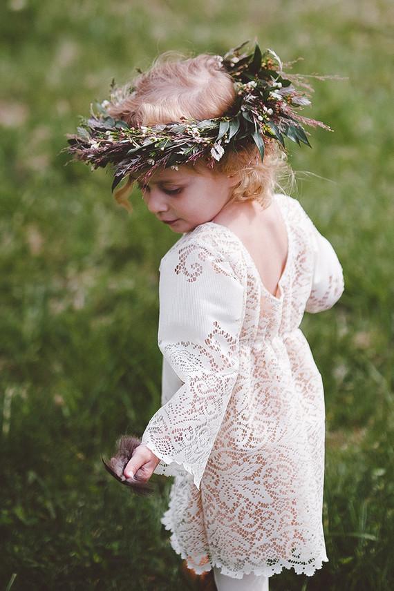Bohemian flower girl