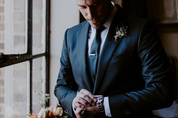 Fall groom attire